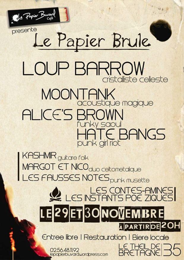 Le 29 et 30 Novembre 2013 - Le Papier Brule !